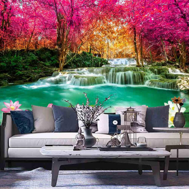 Red Yellow Leaves 3D Full Wall Mural Photo Wallpaper Printing Home Kids Decor