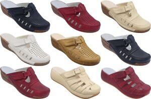 Damen Sabot Clogs Pantolette Sandalen Slipper Schuhe Halbschuhe 36-41