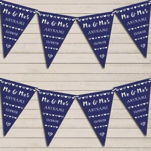 Mr-amp-Mrs-Hearts-Navy-Blue-Wedding-Day-Married-Bunting-Garland-Party-Banner