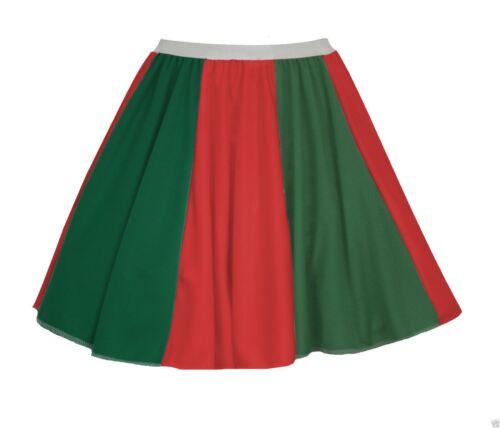 """Ladies Portugal Flag 15/"""" Skater Panel Skirt Portuguese Fancy Dress"""