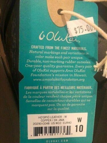 Sizes 7, 8, 10 OluKai Women/'s HO/'OPIO Leather Beach Sandals Copper//Dark Java