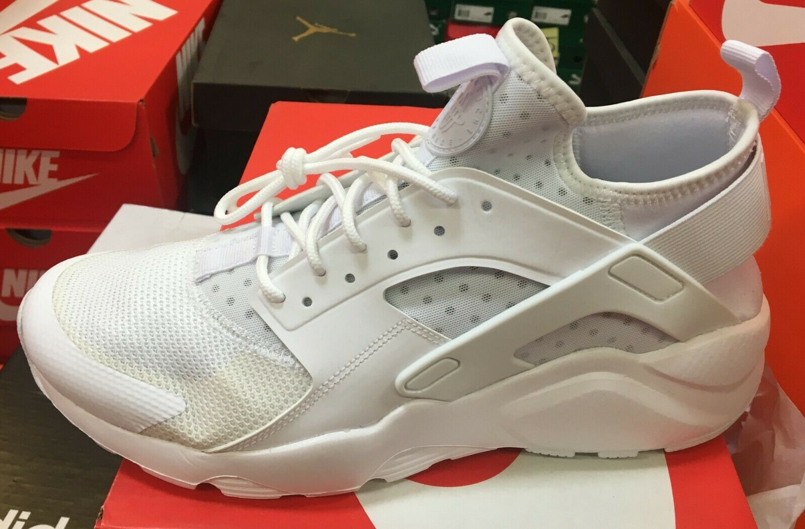 NIKE Air Huarache Run Ultra  Men's Running Training shoes White 819685 101  K