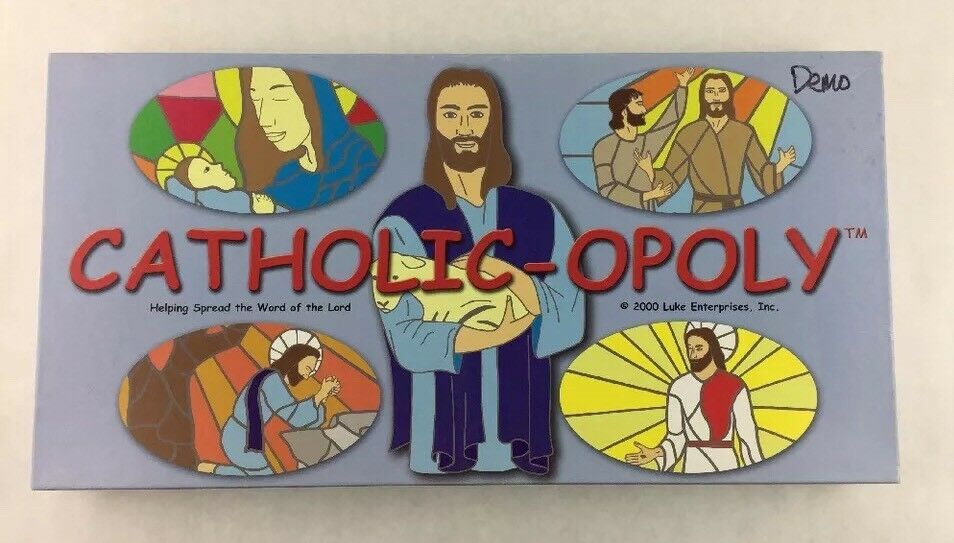 Catholic-opoly Board Game By Luke Enterprises Complete + Poster Sealed Pieces