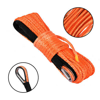"""Red UTV Winch Rope Extreme Max /""""The Devil/'s Hair/"""" Synthetic ATV"""