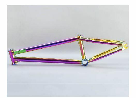 MAFIABIKES BMX Hitmain 20.4 Frame 4130 Quality Sanko Japanese cromoly Purple F