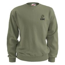 US Marine Corps Soffe Fleece Sweatshirt Old Stock 50%/50% Large USA made New