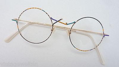 Schlussverkauf Brillenfassung Rund Leicht Damenbrille Metall Neu Runde Gläser Bunt Gr. S StraßEnpreis