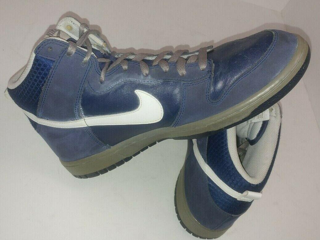 Nike Dunk High Midnight Navy Light Charcoal White Basketball Sz 11.5 317982-401