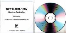 NEW MODEL ARMY March In September 2013 UK 1-track promo test CD