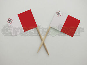 72-Maltese-Flag-Picks-Buffet-Sandwich-Food-Party-Sticks-Toppers-Malta-Flags