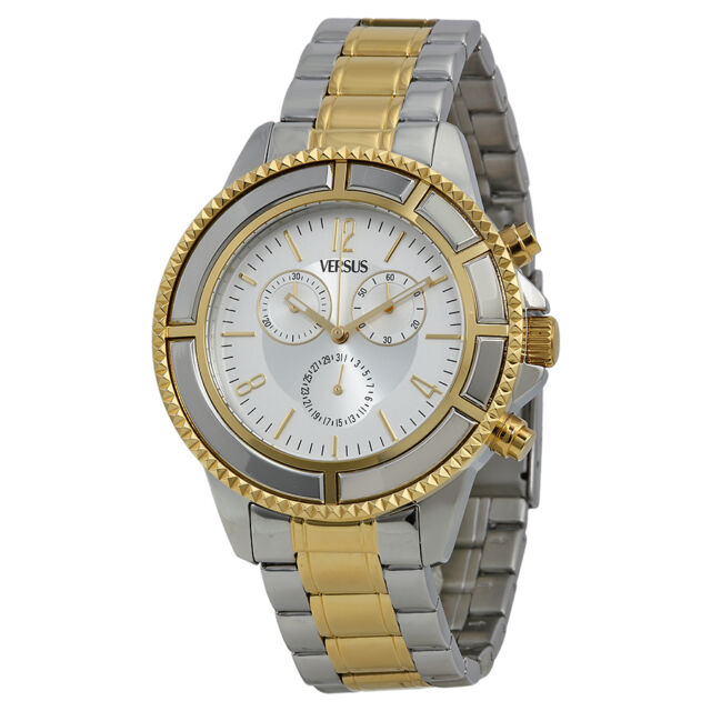 Versus By Versace Tokyo Silver Dial Two-tone Mens Watch SGN060013