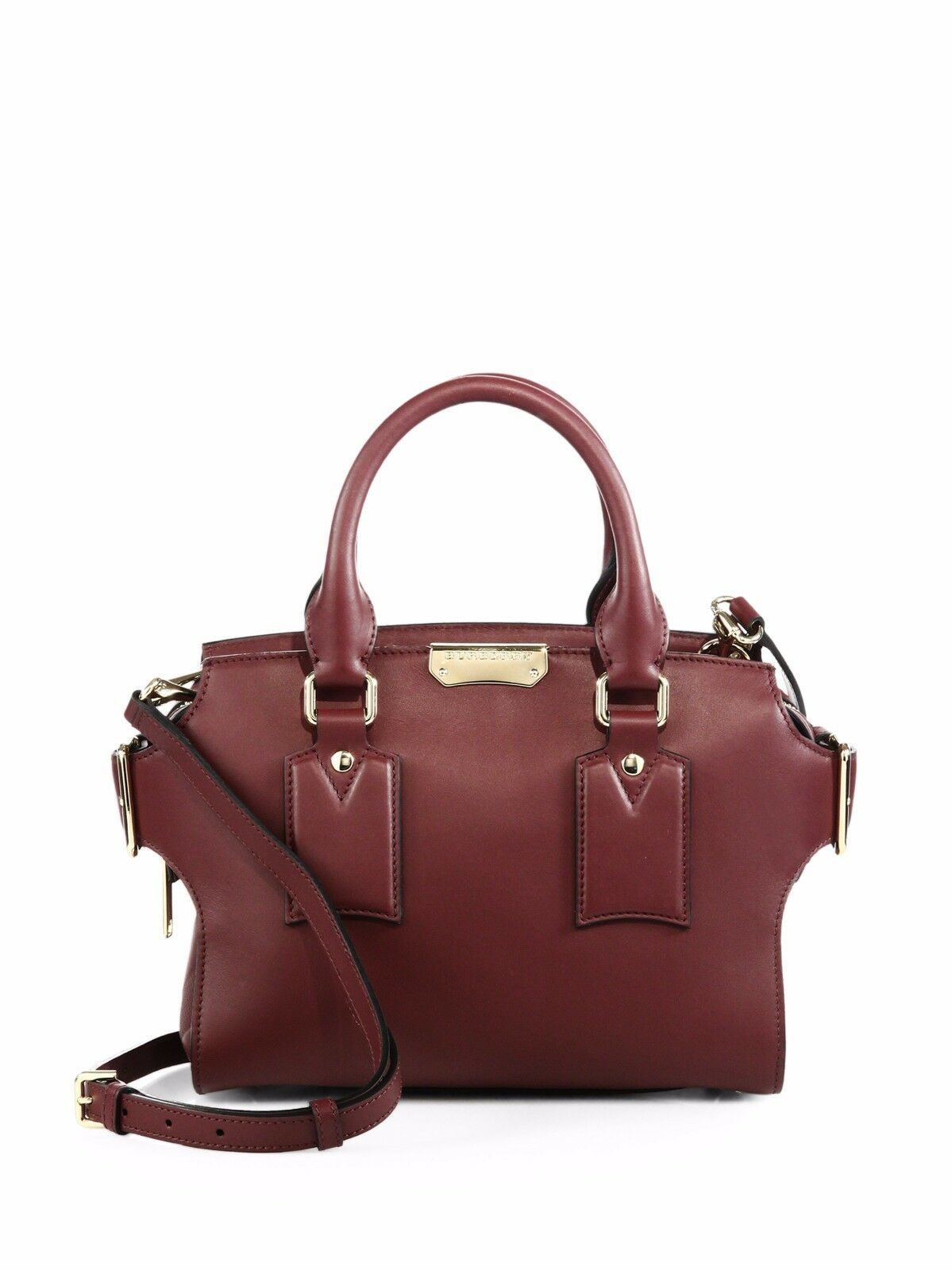 adccc73b51a2 100 Auth Burberry Small Gainsborough Signature Red Satchel Bag handbag for  sale online