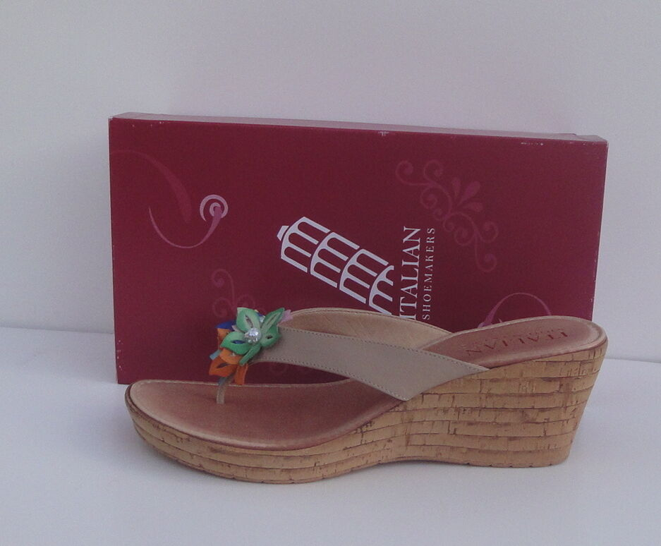 Italian shoesmakers Gabriel Wedge Sandal Size-9.5-New-