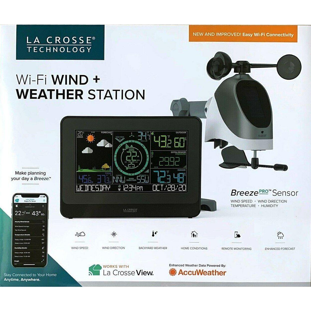 La Crosse Wireless Wi-Fi Wind & Weather Station with Breeze Pro Sensor