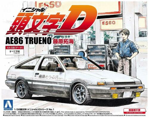 Initial D Takumi Fujiwara Toyota Sprinter Trueno AE86 Plastic Model Kit AOSHIMA