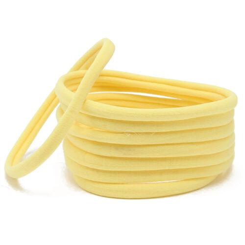 10PCS DIY Baby Soft Skinny Nylon Headband Simple Solid Elastic Hair Accessories