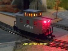 "HO Caboose Lighting Kit with Track Pickup Wheel Set 33""  plus 4 LEDs"