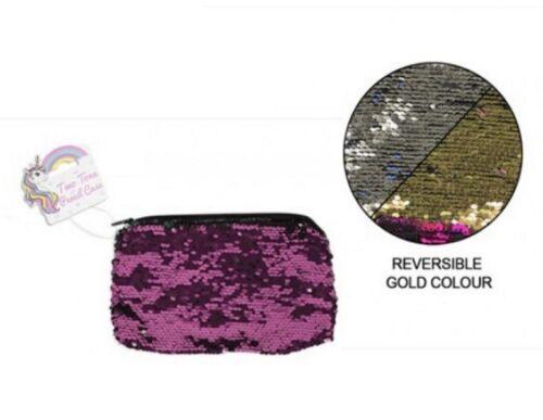 Reversible Sequin Pencil Case Stationary Organizer Mermaid Sequin Pouch Case Bag