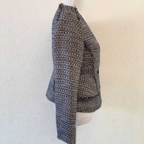 abbigliamento in Republic maniche Banana tweed da lunghe 0 taglia donna bottone un di lavoro da Giacca zgqTwx1