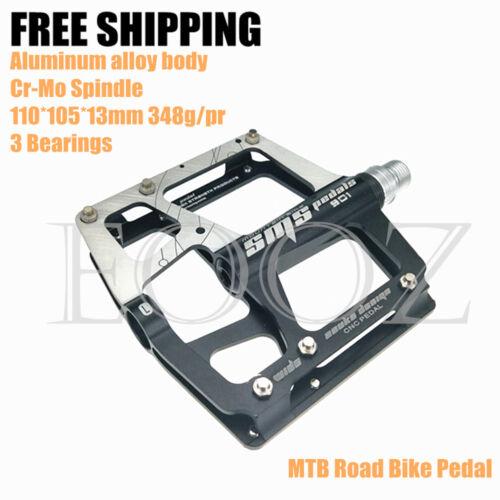 MTB Mountain Bike Pedals Ultralight Aluminum Alloy 3 Bearings Pedals 5 Colors
