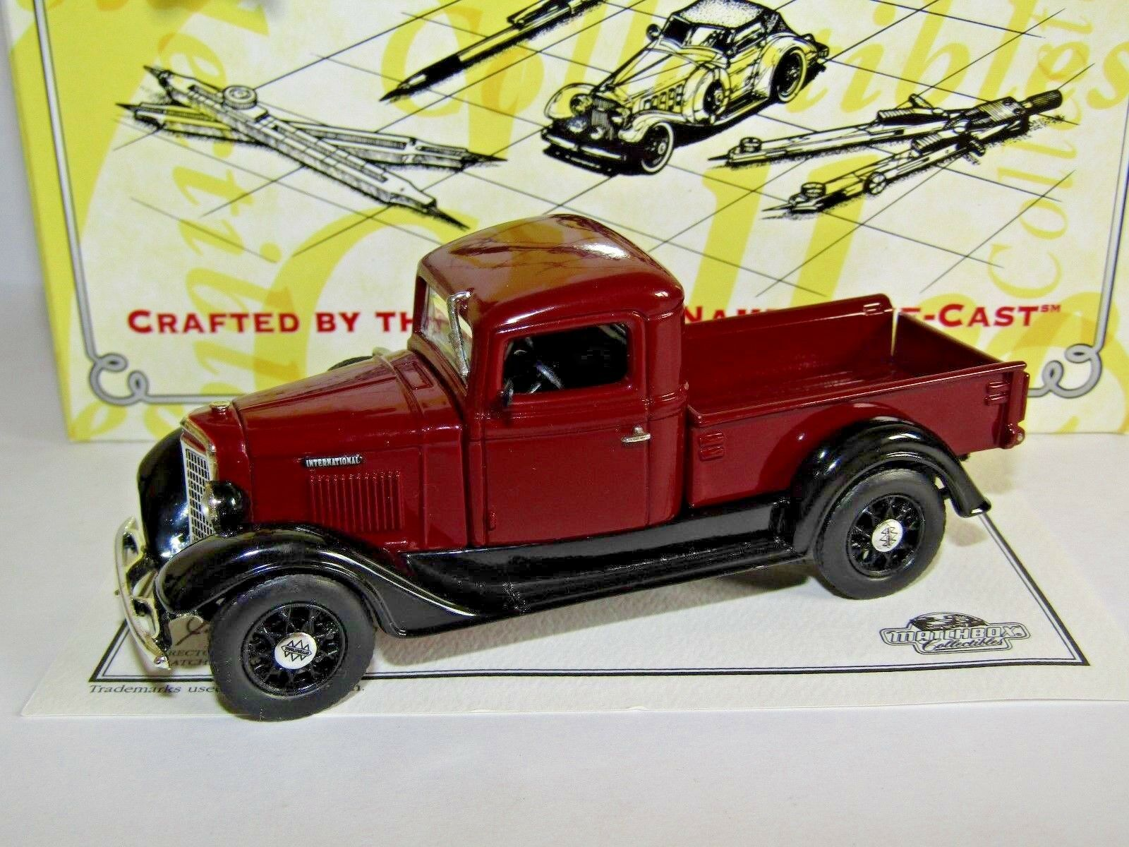 MATCHBOX MODELS OF YESTERYEAR 1934 INTERNATIONAL HARVESTER MAROON 1 43 YTC06
