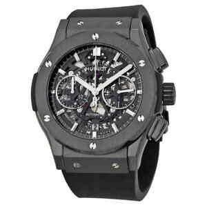 Hublot Classic Fusion Aerofusion Chronograph Automatic Black Magic Skeleton Dial