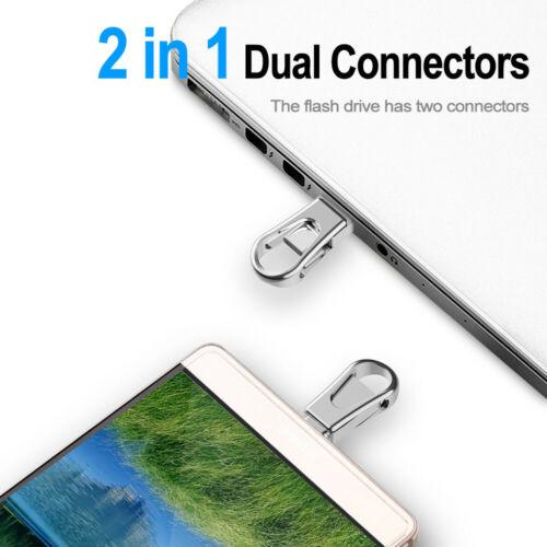 10Pcs 2 In 1 Dual Connectors OTG 32GB//64GB Type C 3.0 USB Flash Drive Waterproof