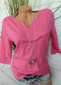 ee935e812977c Olsen Shirt Damen Gr. 38 bis 44 pink Ton mit Pailletten am ...