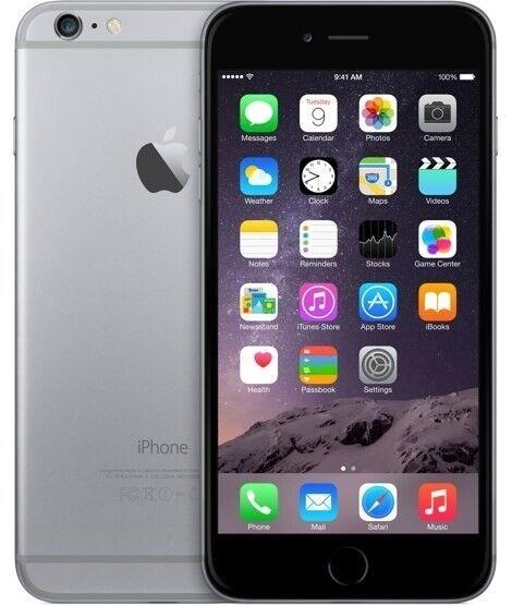 iPhone 6 Plus, GB 128, sort
