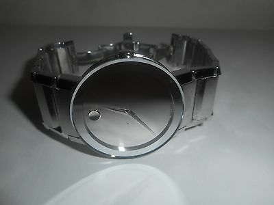 Movado Sapphire Silver Mirror Mens Watch 0606093 Pre-owned! Big Savings and Nice