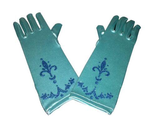 Die Eiskönigin Disney Elsa Party Cosplay Oberteil blau Party Kostüm Handschuhe