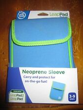 NIB LeapFrog LeapPad Explorer Neoprene Sleeve - LT BLUE WITH GREEN TRIM