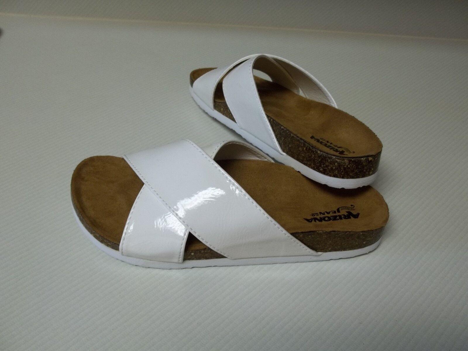 Women's Arizona New Sandals Paxton White 6M New Arizona W/O Box $40 b2b11c