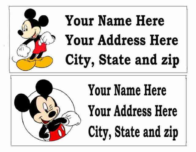 120 mickey mouse disney return address labels many choices ebay