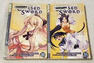 CHRONICLES OF THE CURSED SWORD Manga Volumes 12 13 TOKYOPOP ex-library