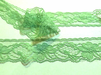 3 m Spring Moss Green  Floral Lace Trim 5 cm wide #6GN300R