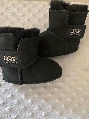 UGG Erin Black Infant Baby Booties