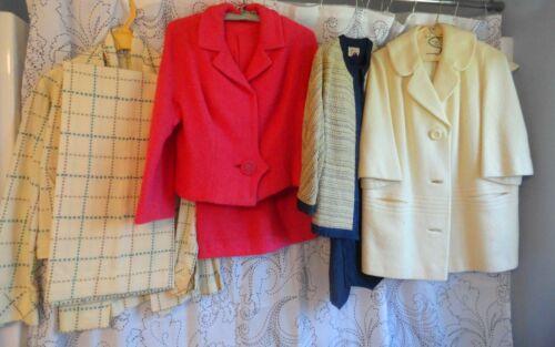 Vintage Lot 8 Pc 1960's Womens Clothing 2Pc Suits