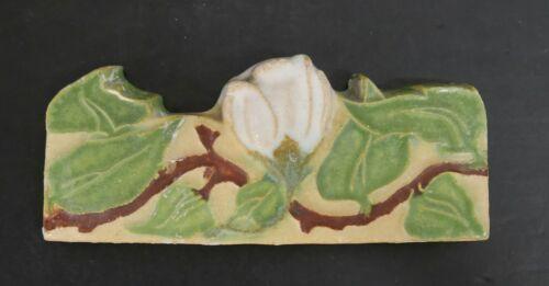 CALCO Vintage Contoured Border Flower Tile//Yellow
