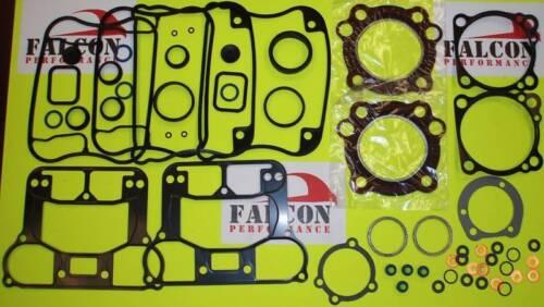 Harley XL Sportster 883 Full Upper//Top End+Base Gasket Set w//Silicone Head 89-03