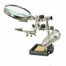 HEAVY DUTY HELPS HANDS FREE MAGNIFYING GLASS GLASSES 90mm 3x OPTICAL LENS