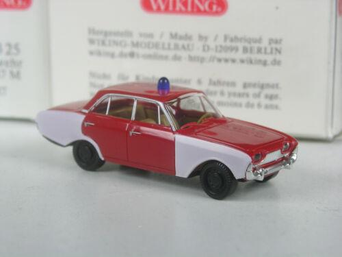 Sonderpreis Wiking Serienmodell Ford Taunus 17m Badewanne Feuerwehr in OVP