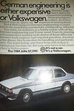 Alte Zeitungsseite mit Volkswagen Jetta Werbung wow sehr selten 1-page