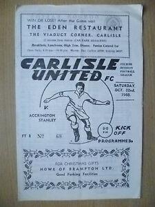 1960-Official-Programme-CARLISLE-UNITED-v-ACCRINGTON-STANLEY