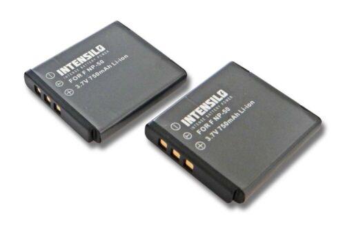 2x BATTERY INTENSILO 750mAh FOR Kodak Zi8 Zi 8 Pocket-Camcorder