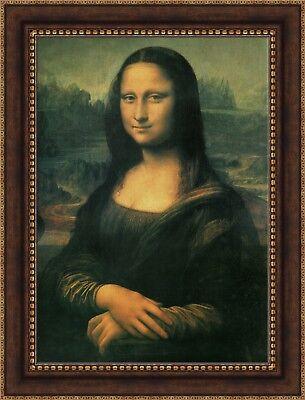 "Leonardo da Vinci Mona Lisa Framed Canvas Giclee Print 27/""x36/"" V03-24"