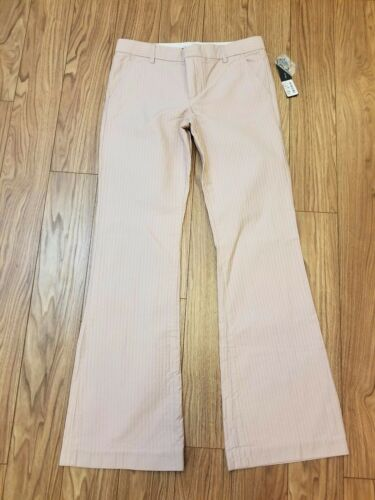 8 Light Jacobs Pink Pants Leg Taglia Marc Nuovo Flare Pinstripes Cotton Donna pAvcBqwB