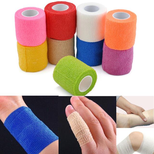 Elastic Health Care Medical Self-Adhesive Bandage First Aid Treatment Gauze Tape