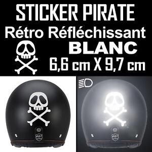 Decal-Sticker-Retro-Reflective-Helmet-Pirate-Albator-Capri-Motorbike
