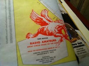 31217 BOOK RADIO AMATEURS GREAT CIRCLE MAP OF THE WORLD WALL